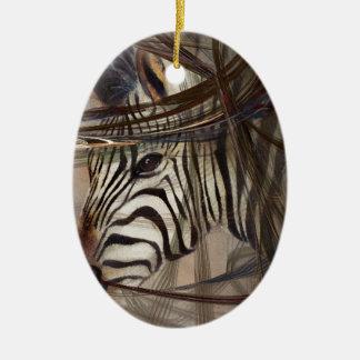 Zebra animals,wildlife,wildlife art,nature gifts ceramic ornament