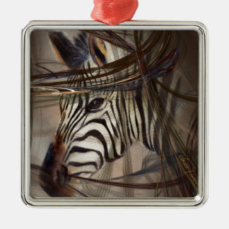 Zebra animals,wildlife,wildlife art,nature gifts metal ornament
