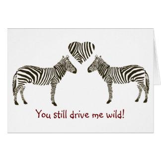 Zebra Anniversary Card