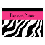 Zebra Appointment Card Business Cards