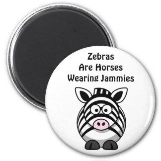Zebra Art 2 Inch Round Magnet