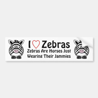 Zebra Art Bumper Sticker