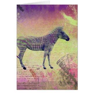 Zebra Art, Get Well Soon Greeting Card