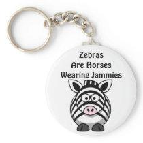 Zebra Art Keychain