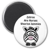 Zebra Art Magnet