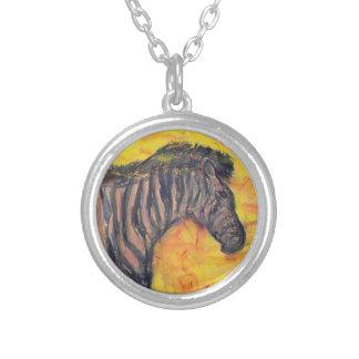 Zebra Art Necklaces