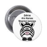 Zebra Art Pinback Button