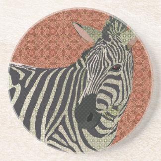 Zebra Art Pink Coaster