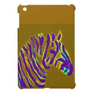 Zebra Art Purple Stripe Case For The iPad Mini