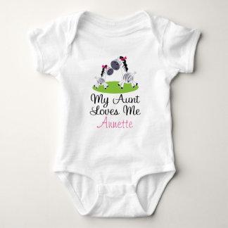 Zebra Aunt Loves Me Personalized Kids T-shirt