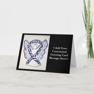Zebra Awareness Ribbon Angel Cards