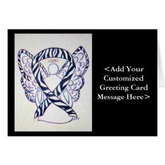 Zebra Awareness Ribbon Angel Cards