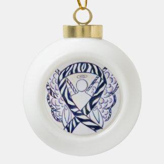 Zebra Awareness Ribbon Angel Ornaments