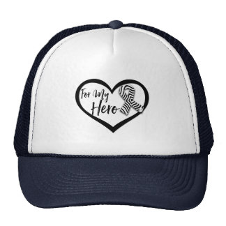 Zebra Awareness Ribbon For My Hero Trucker Hat