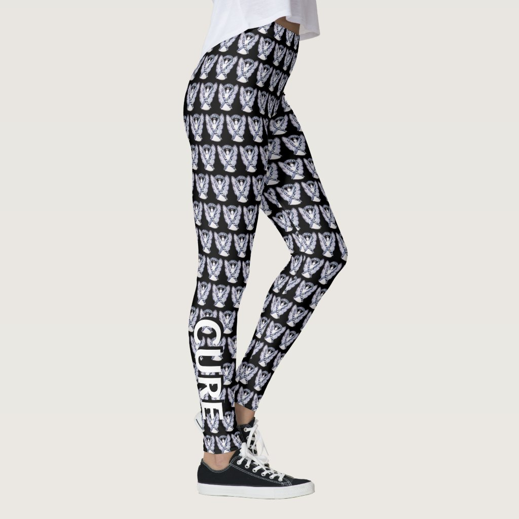 Zebra Awareness Ribbon Hope Cure Angel Leggings