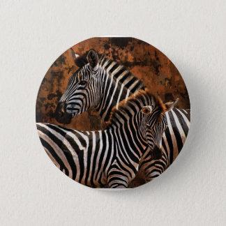 Zebra baby art button