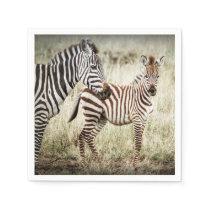 Zebra & Baby Napkins