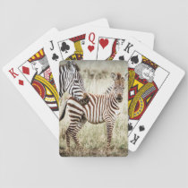 Zebra & Baby Playing Cards