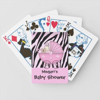 Zebra Baby Shower Card Game Pink Pram