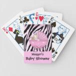 Zebra Baby Shower Card Game Pink Pram Bicycle Playing Cards
