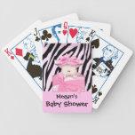 Zebra Baby Shower Playing Card Pink White Card Decks