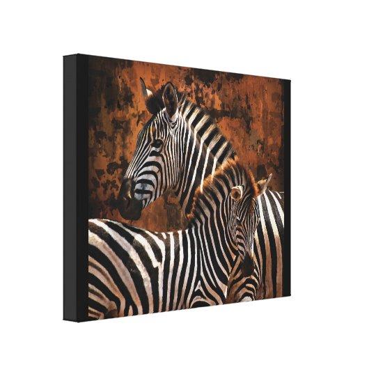 Zebra baby wild animals Africa series Canvas Print