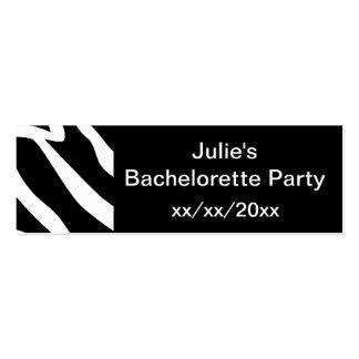 Zebra Bachelorette Party Mini Business Card