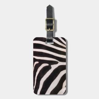 Zebra Bag Tag