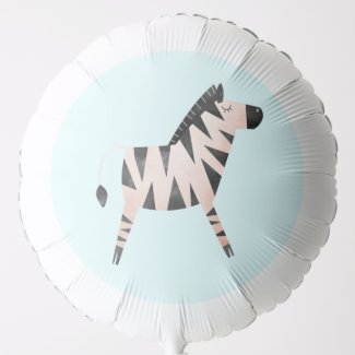 Zebra Balloon for Safari or Jungle Themed Party