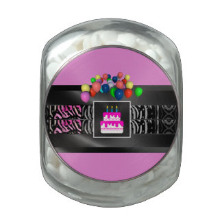Zebra Balloons Cake Party Jelly Belly Candy Jars