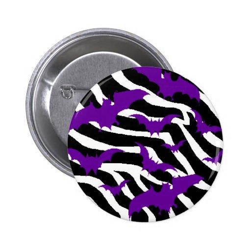 Zebra Bats 2 Inch Round Button