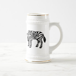 Zebra Beer Stein