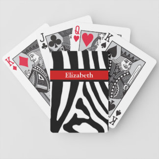 Zebra Bicycle Playing Cards