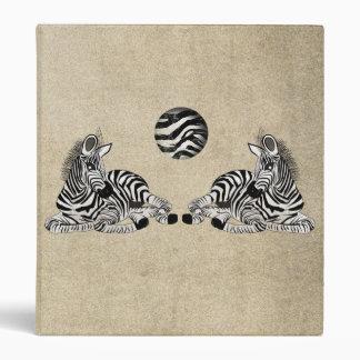 Zebra Binder