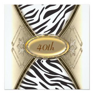 Zebra Birthday party Invitation