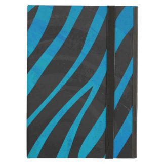 Zebra Black and Blue Print Case For iPad Air