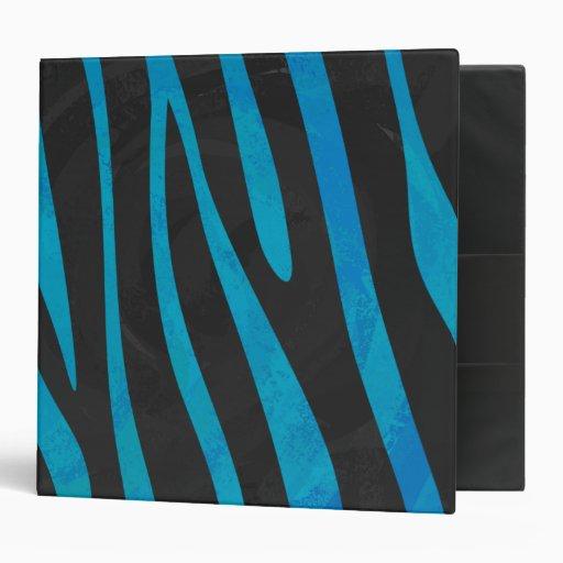 Zebra Black and Gray Print Binder