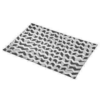 Zebra Black and Gray Print Cloth Place Mat