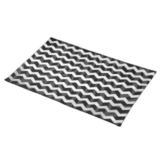 Zebra Black and Gray Print Cloth Placemat