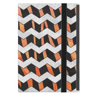 Zebra Black and Orange Chevron iPad Mini Case