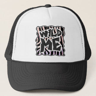 Zebra Black and Pink Wild me Trucker Hat