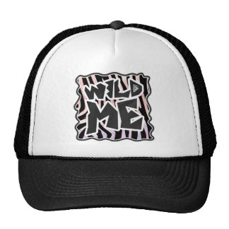 Zebra Black and Pink Wild me Trucker Hat