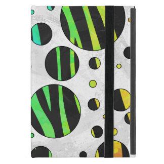 Zebra Black and Rainbow Print Cover For iPad Mini