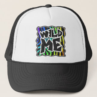 Zebra Black and Rainbow Wild Me Trucker Hat