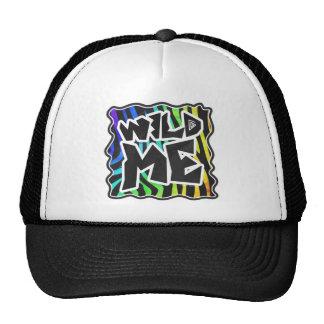 Zebra Black and Rainbow Wild Me Trucker Hat
