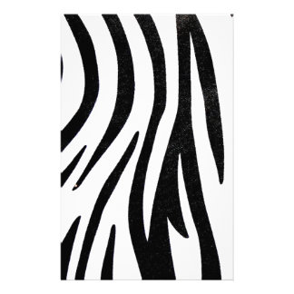 Zebra Black and White Abstract Artwork Stationery