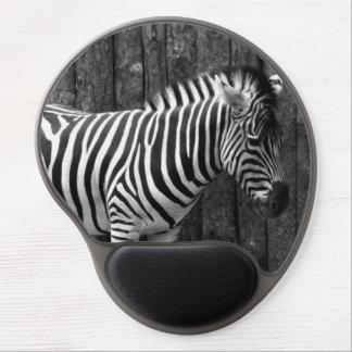 Zebra black and white gel mousepad
