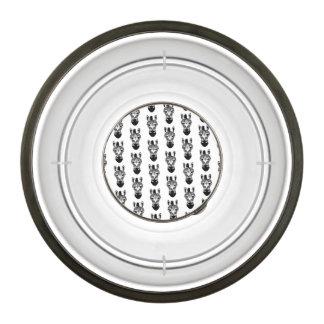 Zebra Black and White Pattern Bowl