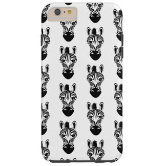 Zebra Black and White Pattern Tough iPhone 6 Plus Case