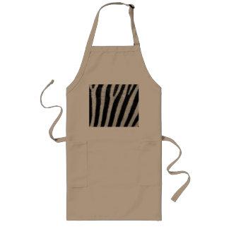 Zebra Black and White Striped Skin Texture Templat Apron